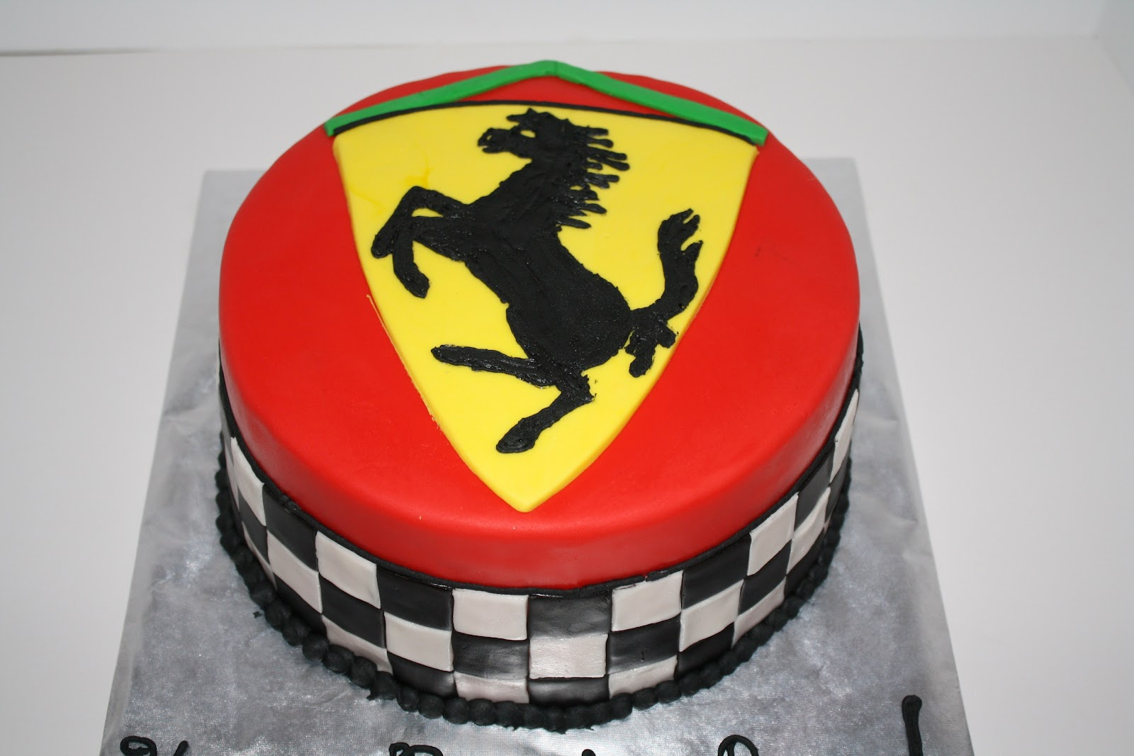 Checkerboard Ferrari Birthday Cake