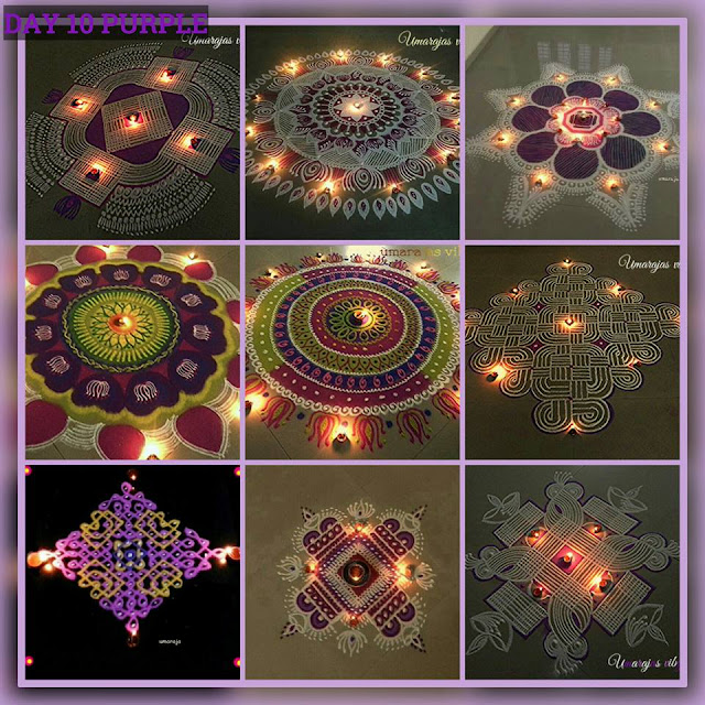Navaratri Rangoli Day 10 - Purple