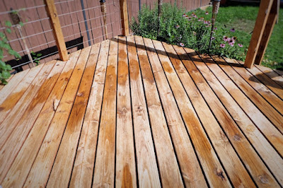 wet deck wood chemical clean brighten
