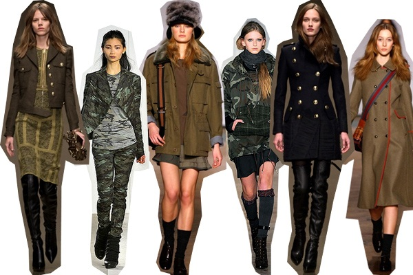 89020e9f2bd The military trend will once again rule this Fall! From shades of olive to  bronzed green