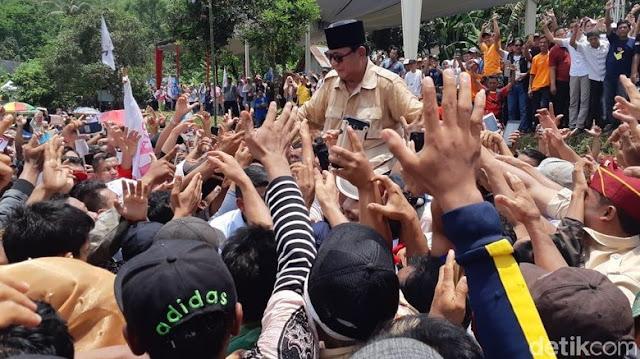 #PrabowoMenyapaJawa, Bos Banteng Pingsan, Masjid Ditutup!