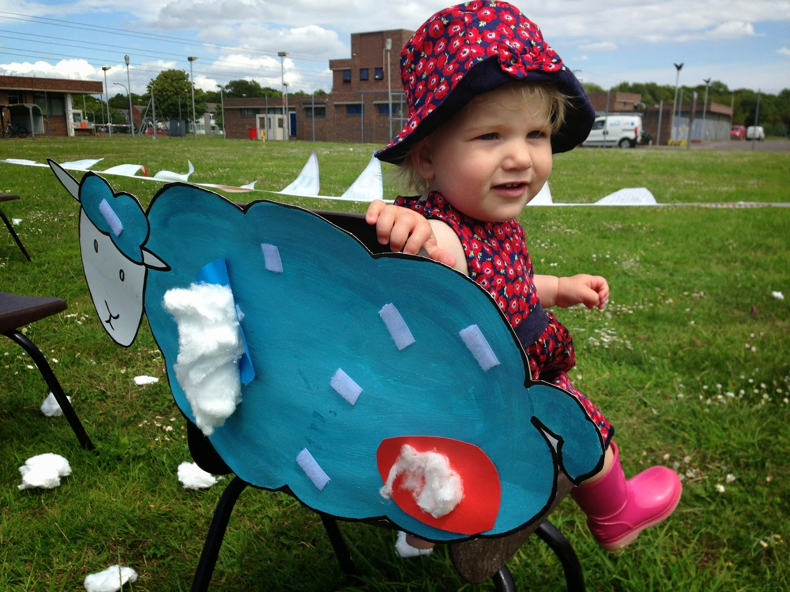 Tin Box Tot having fun at the sponsored toddle