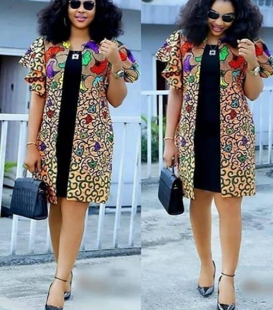 ankara kimono jacket