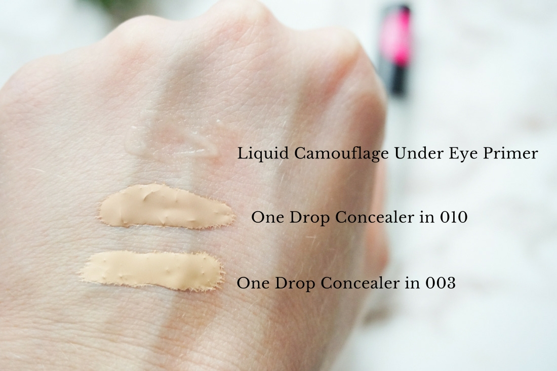 One Drop Weightless Concealer 003 und 010, Liquid Camouflage Under Eye Prime