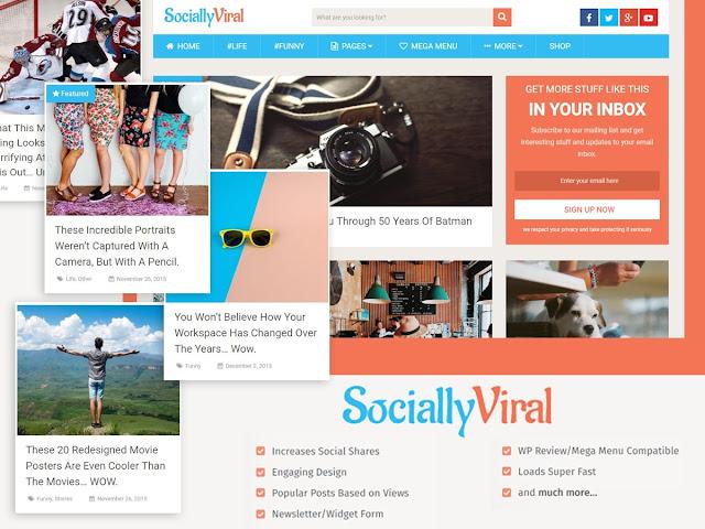 SociallyViral theme wordpress