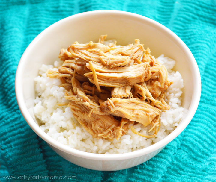 5 Ingredient Slow Cooker Teriyaki Chicken at artsyfartsymama.com #easyrecipe