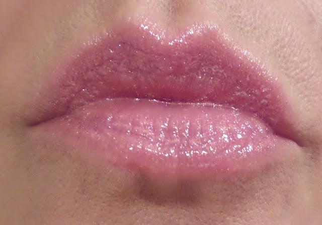 zoya candace lipstick with anonymous hot lips gloss swatch