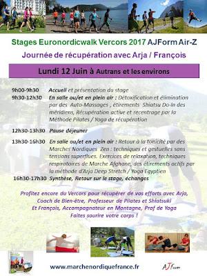 Journée de récupération sportive Euronordicwalk le 12 Juin 2017