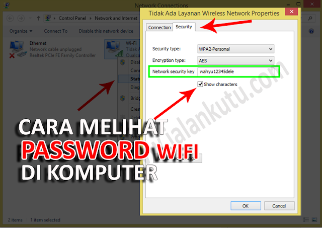Cara Melihat Password Wifi di Komputer