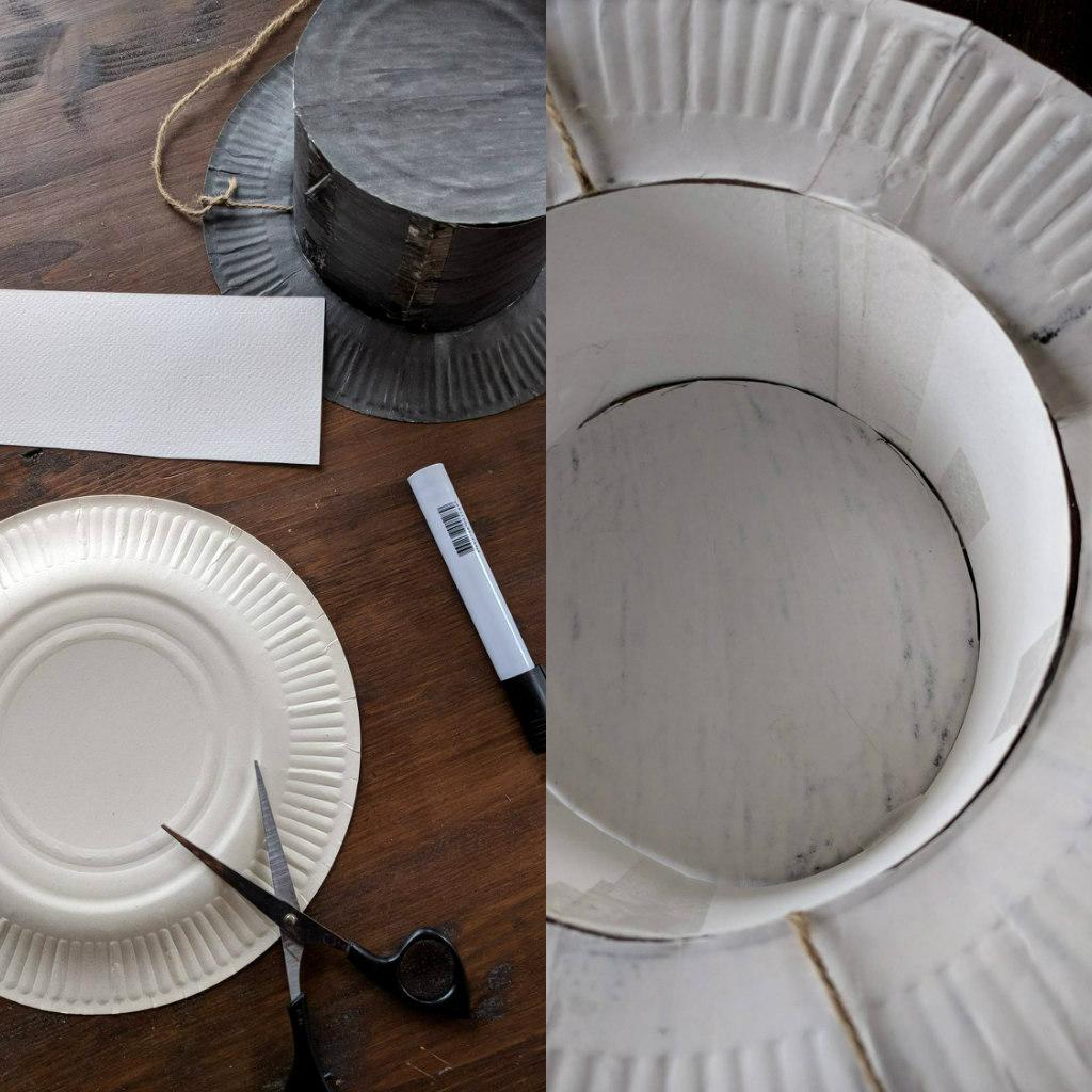 diy paper plate hat