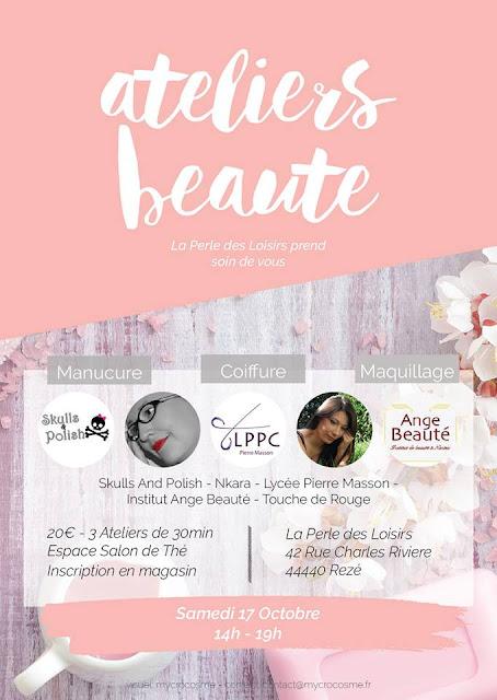 affiche, ateliers beauté, la perle des loisirs