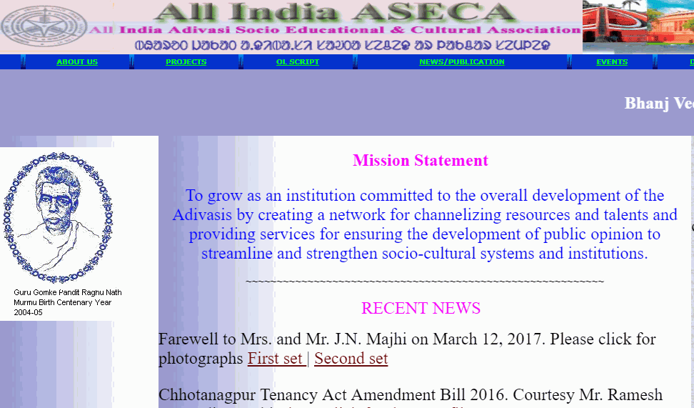 santali website ASECA