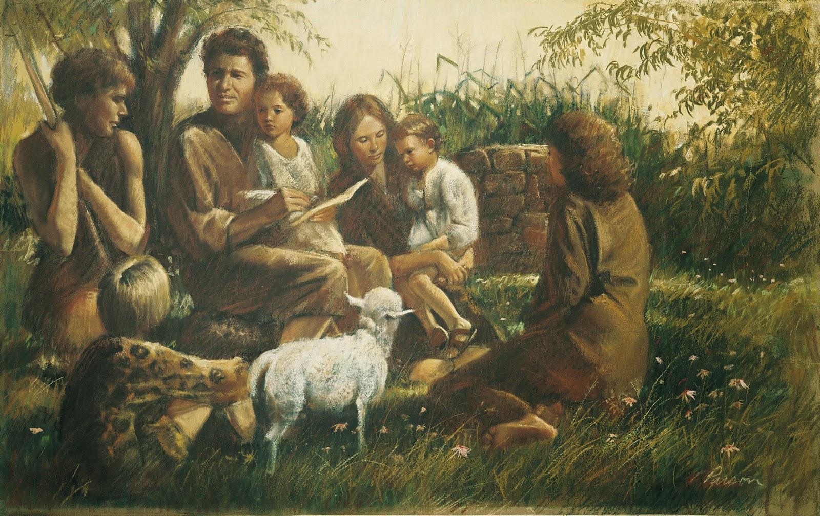Adam and eve in garden of eden studying genesis chapter 2 7