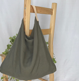 麻とレザーの鞄