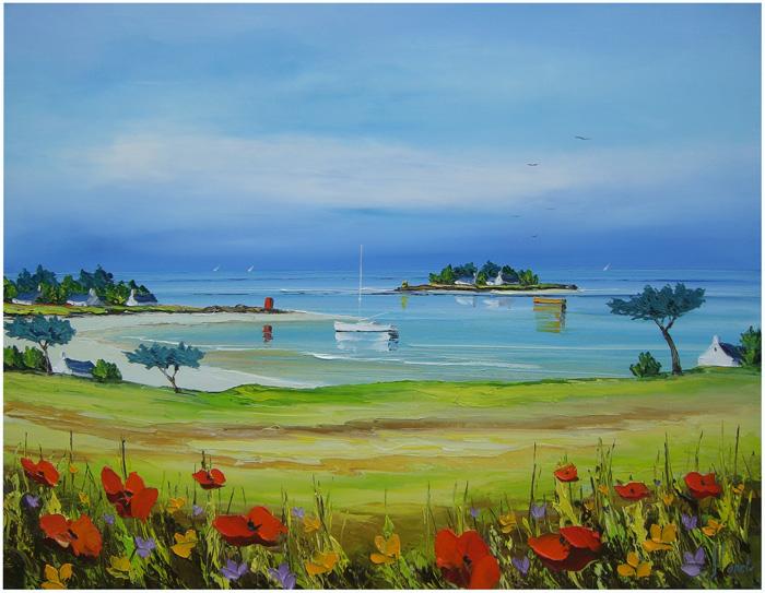 Primavera - Frédéric Flanet e suas belas pinturas com paisagem de praias