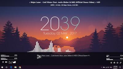 Memasang Widget di Windows 10 dengan Rainmeter