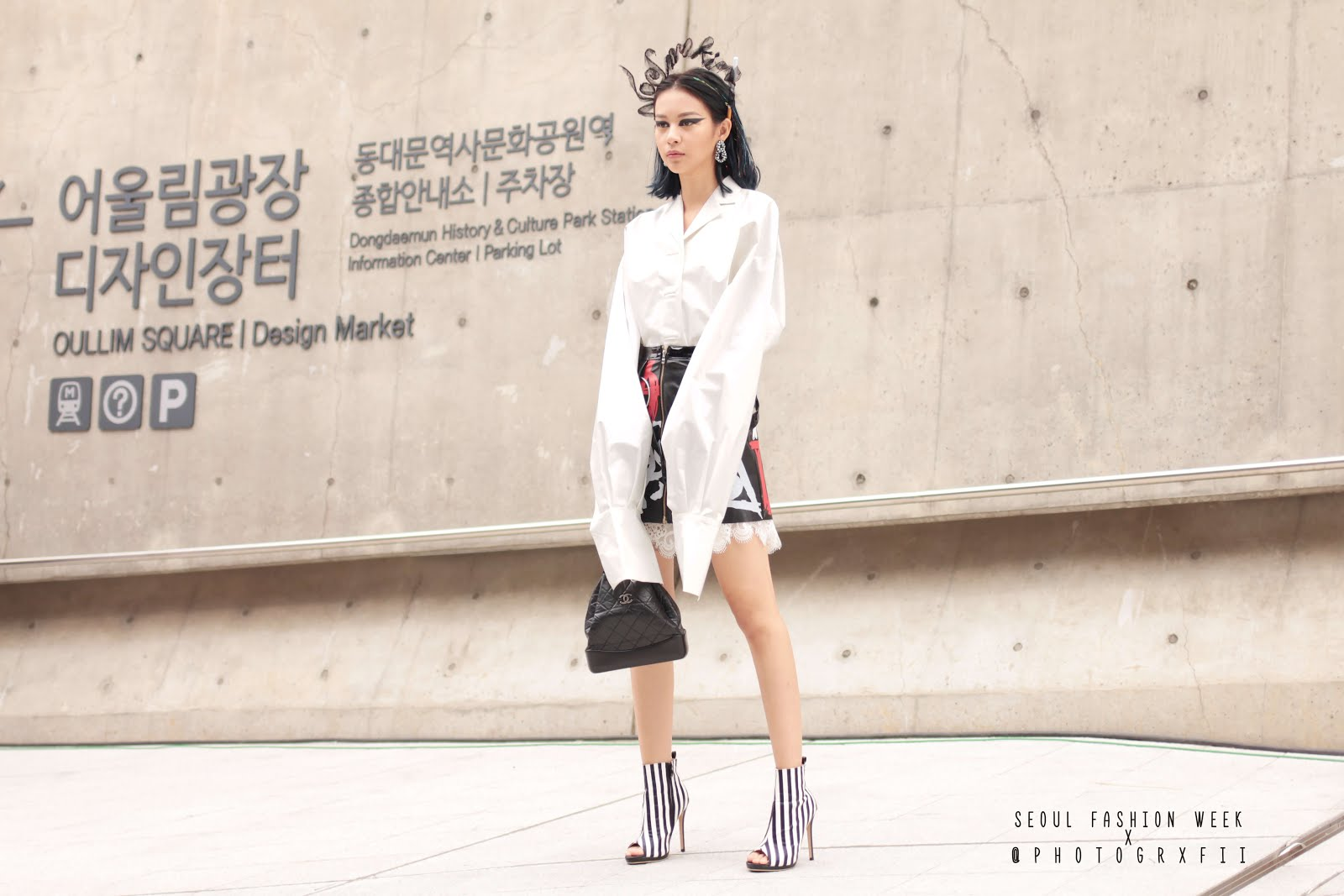 seoul fashion week ss18 leather skirt styling inspiration