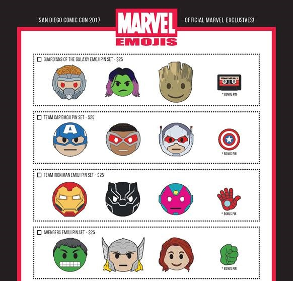 The Blot Says Sdcc 2017 Exclusive Marvel Emojis Pin Series