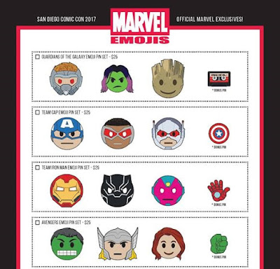 San Diego Comic-Con 2017 Exclusive Marvel Emojis Pin Series