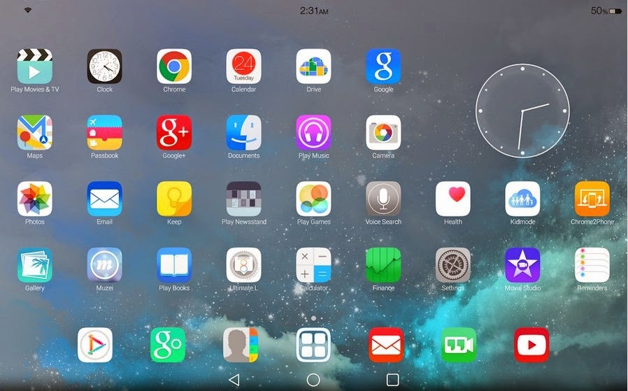 Ultimate iOS8 Launcher Theme Apk