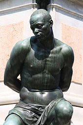 slave captured in bronze livorno italy wikimedia commons