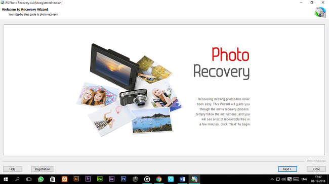 RS Photo Recovery Interface