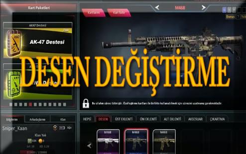 ZULA M468 Silahı Desen (Skin) Değştirme Haziran 2018 Türkçe