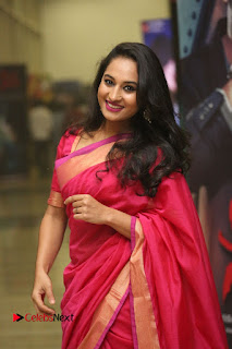 Actress Pooja Ramachandran Pictures in Red Silk Saree at Siddhartha Audio Release  0050.JPG