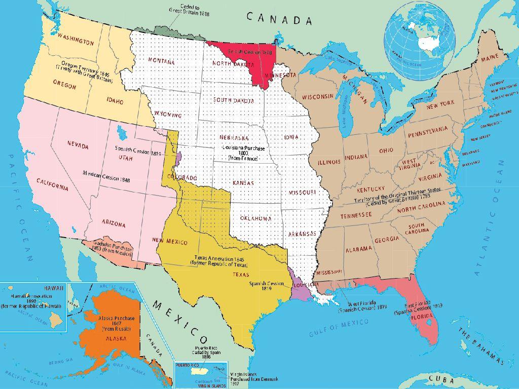 united states history map