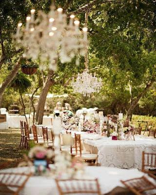 comedor boda al aire libre rustica
