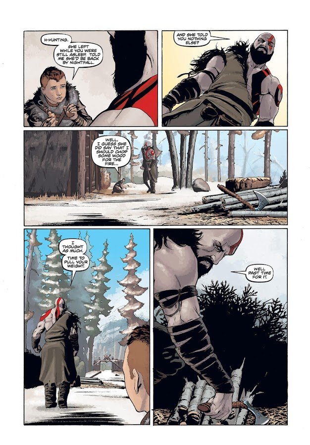 god of war prequel dark horse comics chris roberson