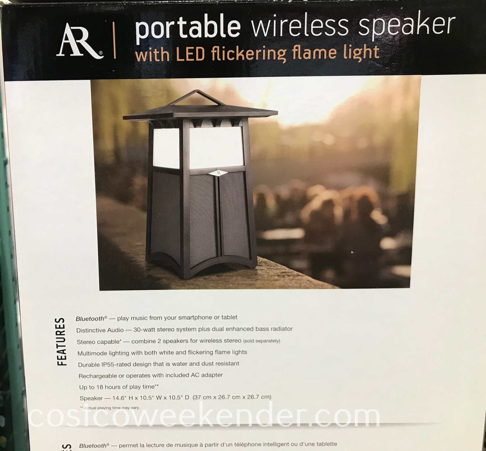 Acoustic Research Flame Outdoor Flame Speaker: great for outdoor gatherings and barbecues