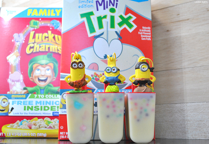 Delicious Frozen Cereal Pops + Finding the 7th Minion!