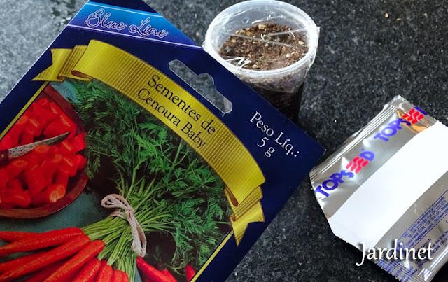 Como fiz o cultivo da cenoura baby desde as sementes