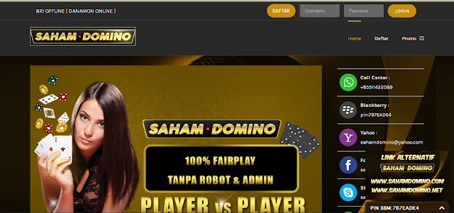 Sahamdomino.com Agen Domino,Agen Online,Agen Poker,Agen Poker Terpercaya Di Indonesia