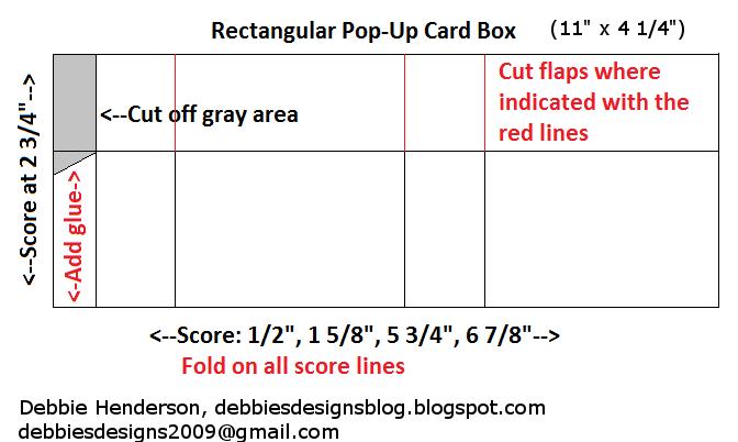 debbie s designs rectangular pop up box card