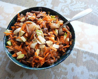 Bean & Carrot Salad with Lemon-Mustard Dressing