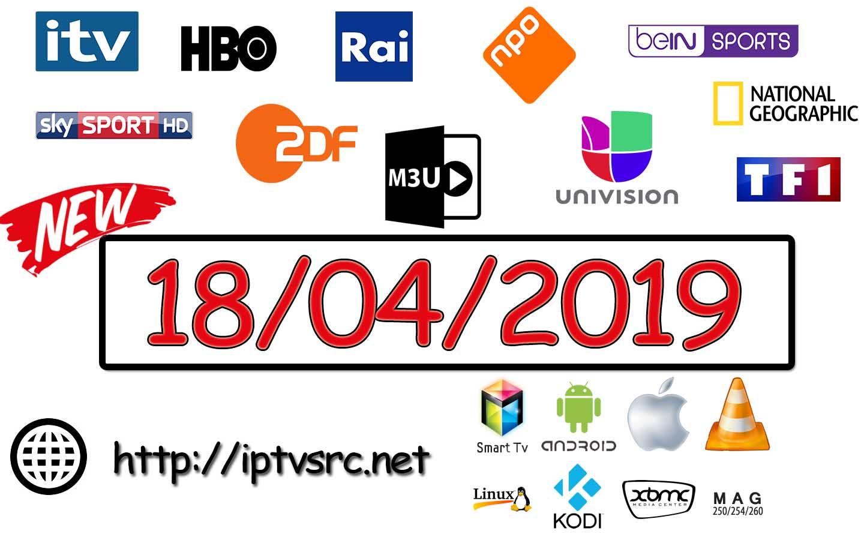 New IPTV links M3U 18 April 2019 - IPTVSRC