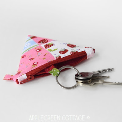 how to turn a coin purse into a key pouch tutorial