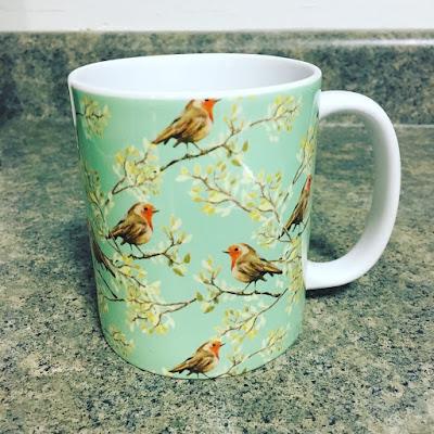 Society6 Redbreast Robin 11 oz mug