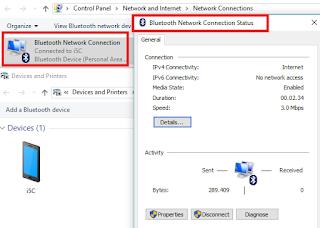 cara menggunakan bluetooth sebagai modem dan berbagi koneksi internet
