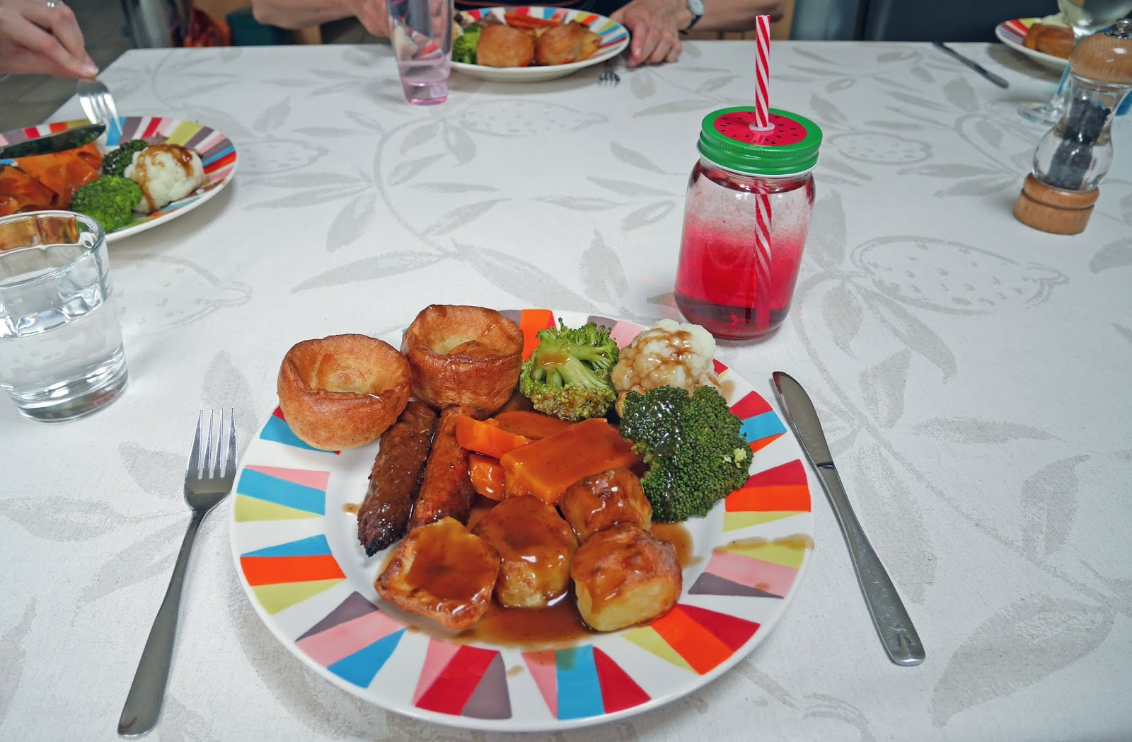 A traditional roast dinner that my Mum cooked for us