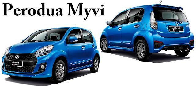 Perodua Myvi - 10 Model Kereta Pilihan Rakyat Malaysia 2016