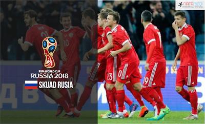Skuad Susunan Pemain Rusia di Piala Dunia 2018