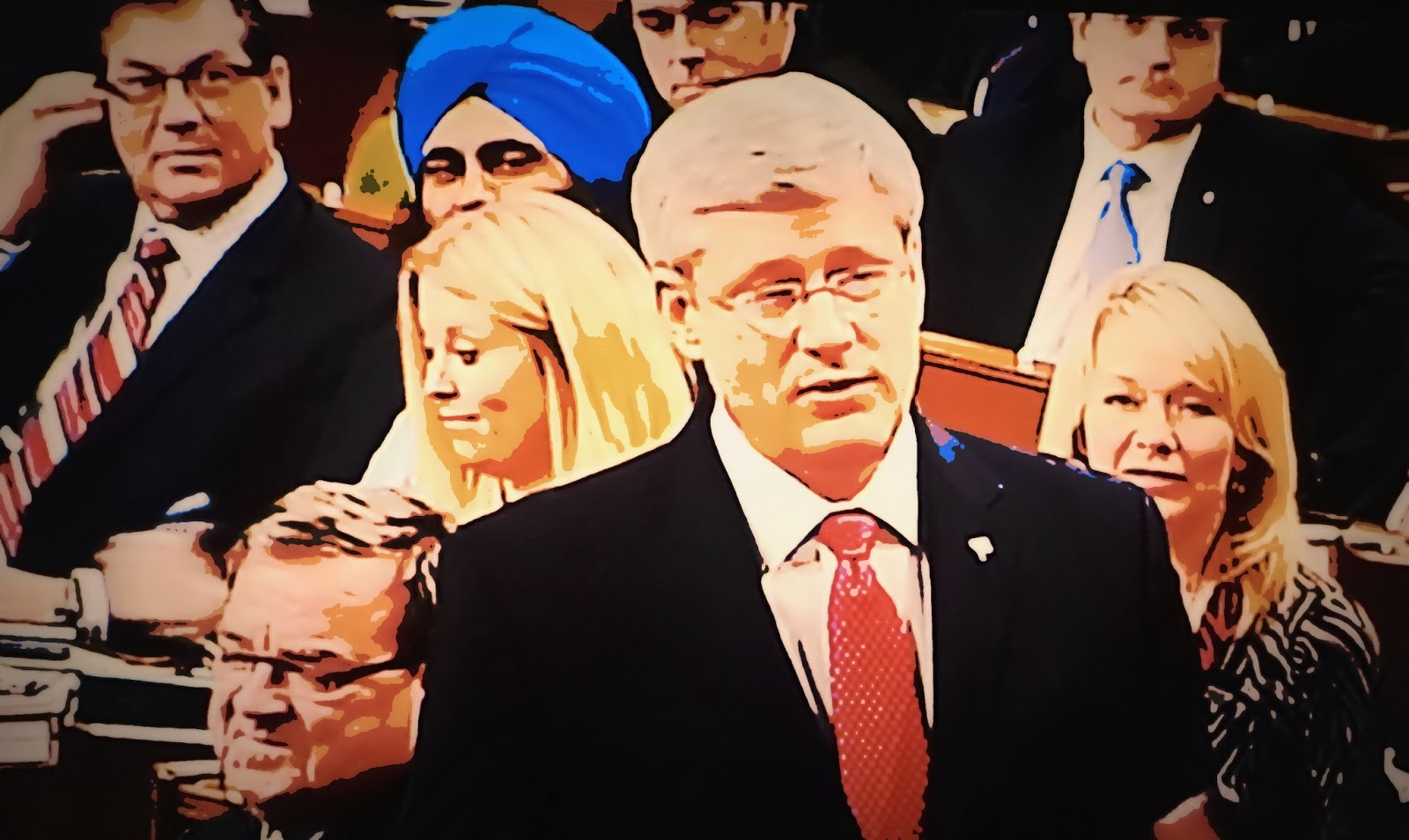 Montreal simon stephen harper jimbo flaherty and the fascist pigs it had to be one of the most bizarre sights i have ever seen in question period and yet another sign that the con regime is running out of steam publicscrutiny Images