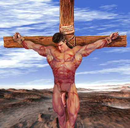 dude crucified naked jpg 1152x768