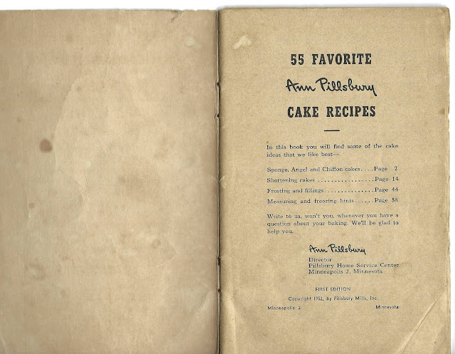 Frontispiece for Ann Pillsbury Cake Recipes