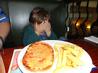 Pizza and Chips from Children's Menu at Beefeater Restaurant