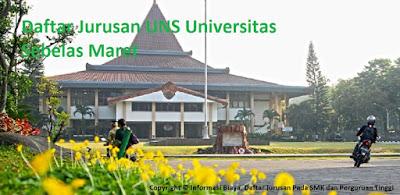 Daftar fakultas UNS Universitas Sebelas Maret Lengkap Terbaru, daftar jurusan UNS Universitas Sebelas Maret Lengkap Terbaru, daftar program studi sarjana UNS Universitas Sebelas Maret Lengkap Terbaru