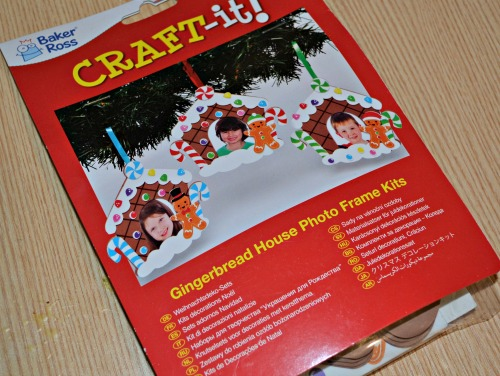 Gingerbreadhouse photo frame arts and crafts for kids (review)